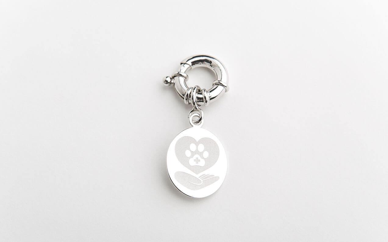 energy pendant for animals elenas - behind